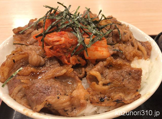 #キムカル丼 #松屋