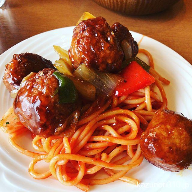 #肉団子 #ナポリタン